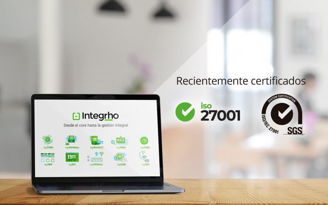 Integrho obtiene el certificado ISO 27001